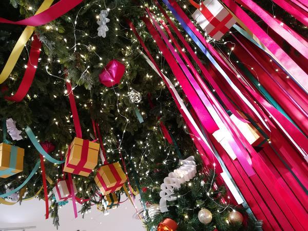 クリスマスにはリボンがいっぱい♪